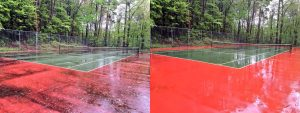 tennis court cleaned before and after, Sherrills Ford, NC