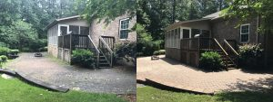 house and terrace cleaned before and after, Sherrills Ford, NC