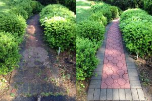 pavement cleaned before and after, Sherrills Ford, NC