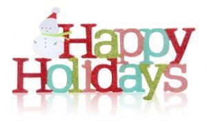 inscription happy holidays